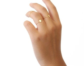 ELEMENTS II - Gold plated Moon ring (ELBA01)