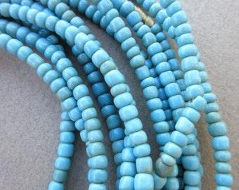 African Blue Glass Beads -6 Strands