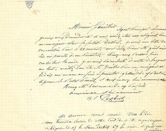 vintage letter scan french language script handwriting ephemera background antique vintage printable paper digital download jpg