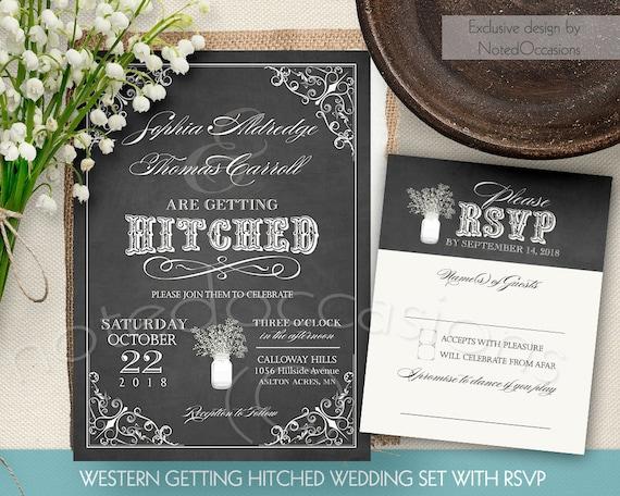 Rustic Western Wedding Invitations: Rustic Wedding Invitation Set Country Western Got Hitched