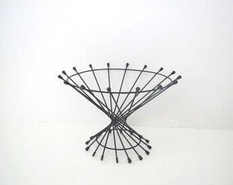 Mid century modern Ferris Shacknove wire metal bowl/ Atomic/ planter