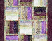 Large Quilted Table Runner, 4838-0, Batik wall quilt, Batik wall hanging, Purple wall quilt