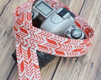 dSLR Camera Strap  - Pumpkin Spice - Orange Sunprint - Fall Fashion, Fall Accessories