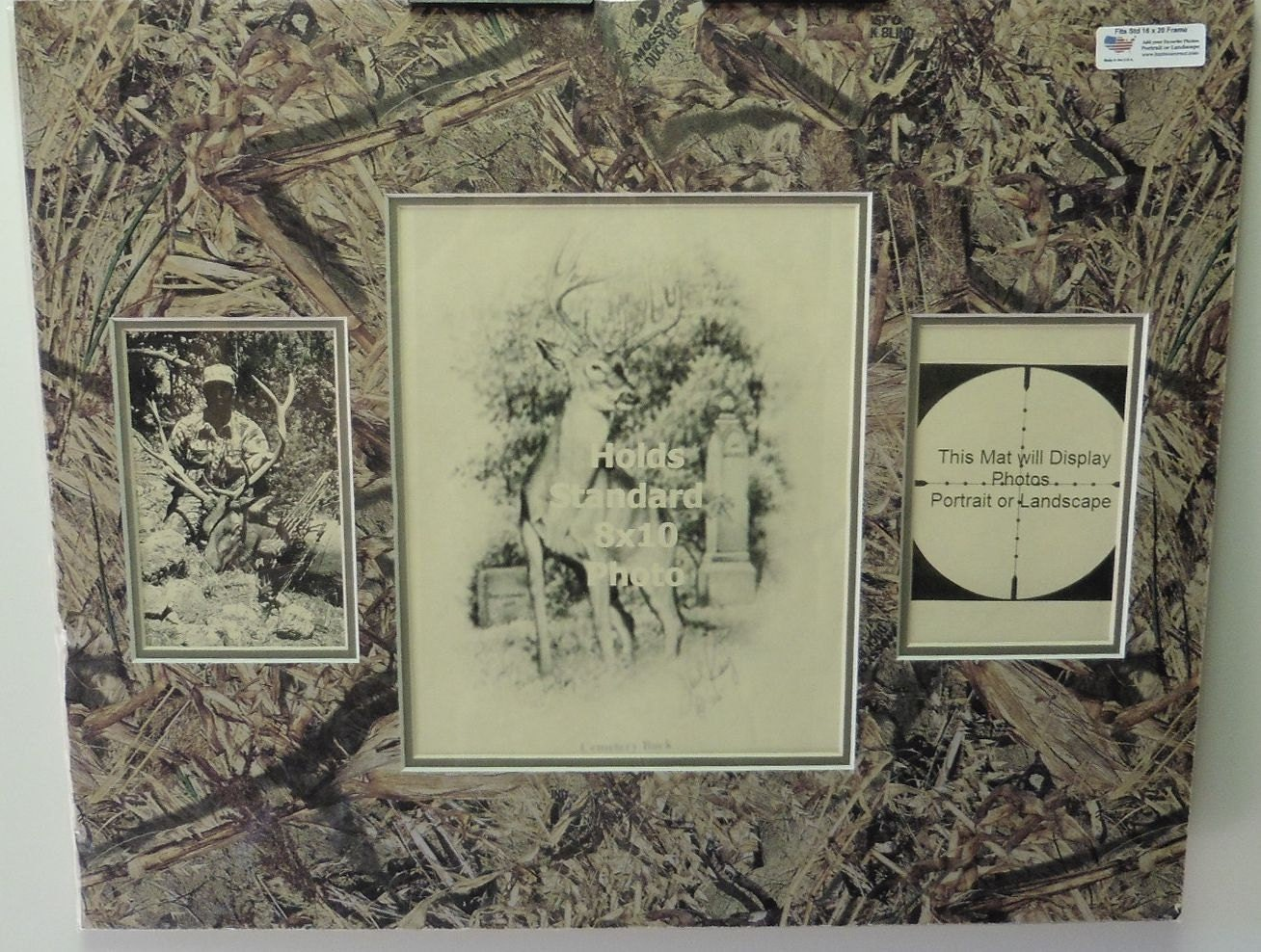 3 apertura musgo roble pato ciego Camo Mat, tiene 2-4 x 6 fotos y 1 ...