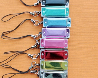Mini Harmonica Charms - They Actually Work Simply Fun and Adorable Choose Your Color Z096