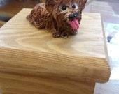 Cute clay yorkie jewelry box