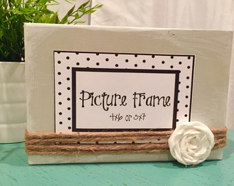 Gray wooden picture frame