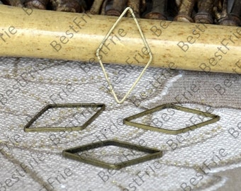 24 pcs of Antique Bronze plated brass connector links,fancy jumpring,metal bead,findings,rhombus connector links 14*23mm