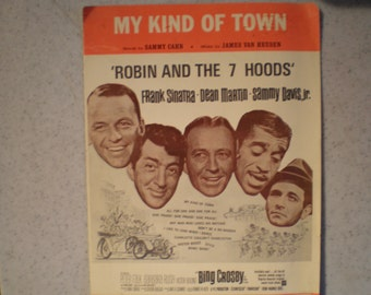 Vintage Mid Century Sheet Music - Robin And The 7 Hoods - Rat Pack - Words By Sammy Cahn