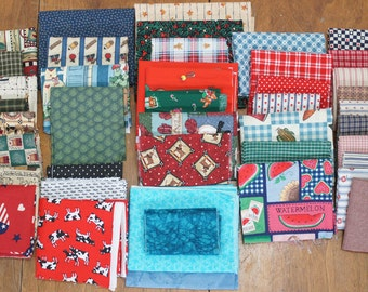 Quilt Fabric Destash Lot 43 Pieces