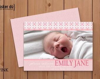 5X7 Mosaic Baby Announcement (Digital or Printed)