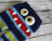Crochet Striped Monster Baby Pants - Baby Monster Pants - Monster Pants - Baby Costume Pants - Crochet Pants - by JoJo's Bootique