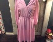 70's pink sequin shou...