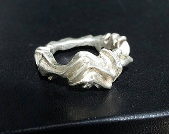 One of a kind Sterling Silver Sculpture Ring