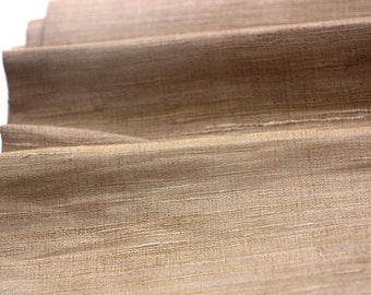 Hand Woven Raw Silk Fabric
