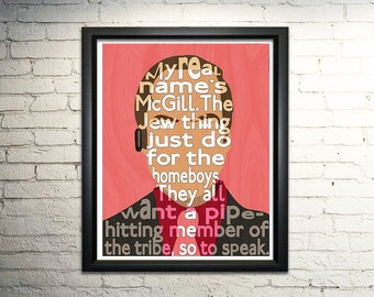 Saul Goodman Breaking Bad Typography Poster