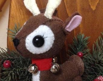 Hand Sewn Felt Reindeer