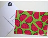 Postcard Greeting Card Illustration Maedchenwahn WATERMELON