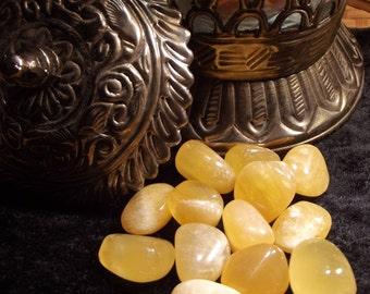 Orange Calcite Tumbled Gemstone - Sexuality, Creativity, Energy, Confidence