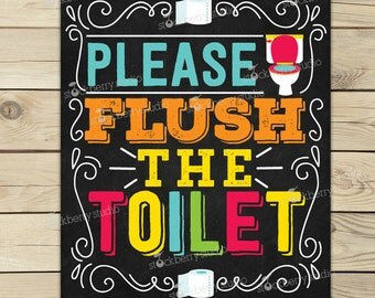 Toilet Rules Sign Etsy