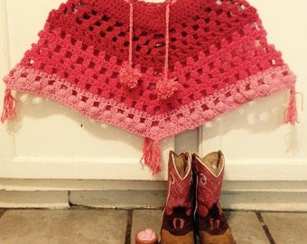 Perfectly Pink Poncho Cape - More Colors Available