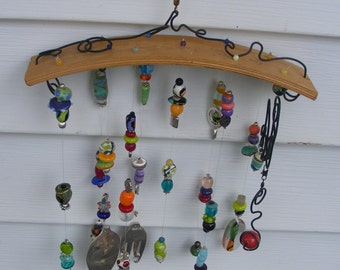 Wood and Glass windchime