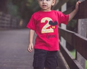 Personalized Monogram Mickey Mouse Birthday Applique Disney Shirt