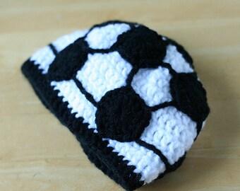 Soccer Hat for kids, Children's Soccer Beanie, Kids soccer hat, Teen Soccer hat, soccer cap, crochet soccer ball