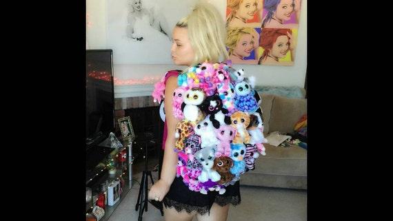 Custom Ty Beanie Baby Book Bag