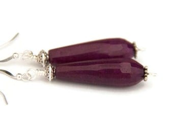 Purple earrings - purple teardrop earrings - grape earrings - grape teardrop earrings - ethnic earrings - tribal earrings