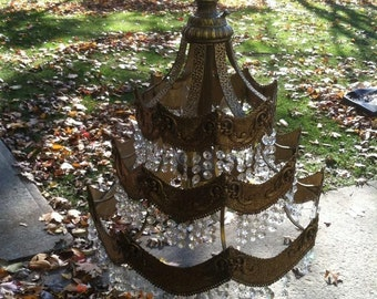 SALE Vintage French chandlier crystal SWAG