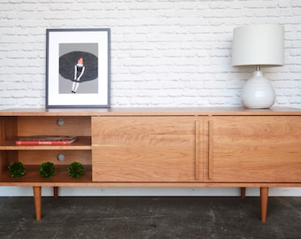 """Kasse Credenza / TV Stand - Solid Cherry - 66"""""""