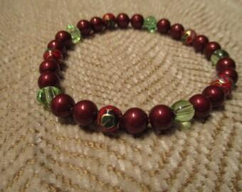 deep red pearl bracelet