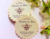 50 Personalized Printed MEANT TO BEE Tags