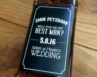 Whiskey Label, Groomsman Gift, Best Man, Custom, Will you be my Groomsman, Bridal Party, Wedding Label, Personalized Label, Sticker, Favor