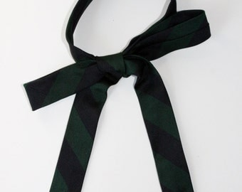The Skinny Black and Green Striped Tie