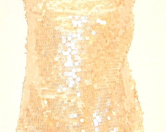 Vintage sleveless sequinned party top