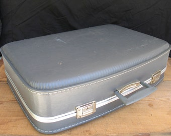 Vintage Blue Suitcase Luggage