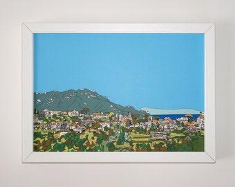 Ravello Print, Italy art print, artwork, Print of Ravello, Italy, Picture of Ravello, Amalfi Coast