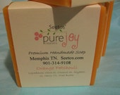 Sweet Orange and Patchouli Natural Olive Oil Soap - Organic Ingredients