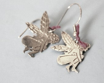 Angel earrings -sterling silver 925- for valentine gift- fairy jewelry