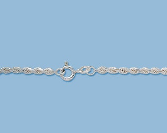 Sterling Silver 1.60 mm Rope Chain