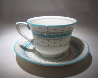 Royal Worcester Demitasse Cup and Saucer - Alpine