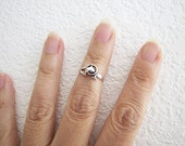 Size 3.5 Little Dolphin Sterling Silver Toe Ring, Knuckle ring or Pinky ring, super cute