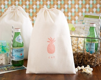Pineapple Wedding Welcome Bag - Tropical Wedding Favors - Wedding Welcome Bags