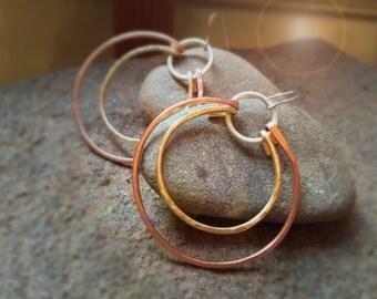 Hoop Earrings - 4-in-one style, interchangeable