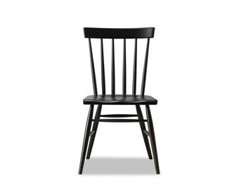 Windsor Chair - Solid White Oak with Charcoal / Black Stain - Available in other woods