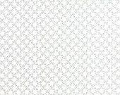 Modern Background Paper Steel Off White Stitched Circles Lattice by Brigitte Heitland of  Zen Chic for Moda