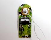 Docking Station , iPhone Charger Holder , Cow Travelers Socket Pocket , Easter Basket Gift