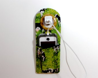 Docking Station , iPhone Charger Holder , Cow Travelers Socket Pocket , Easter Basket Gift